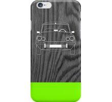 Citroen DS Outline Drawing on Black Oak iPhone Case/Skin