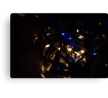 Blue And white Fairy Lights Canvas Print