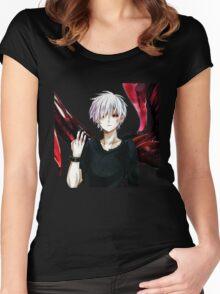 kaneki ken - tokyo ghoul 00 Women's Fitted Scoop T-Shirt