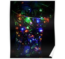 Multi colour Fairy Lights Poster