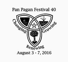 Pan Pagan Festival 40 B&W Unisex T-Shirt