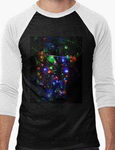 Multi colour Fairy Lights Men's Baseball ¾ T-Shirt