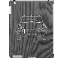 Citroen DS (1960's) Outline Drawing on Black Oak iPad Case/Skin