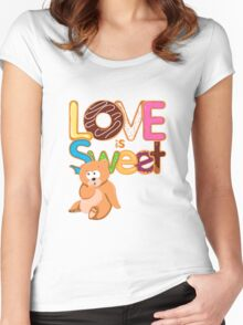 Love is Sweet Women's Fitted Scoop T-Shirt
