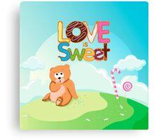 Love is Sweet Canvas Print