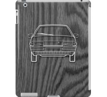 Citroen BX Outline Drawing on Black Oak iPad Case/Skin