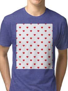Heart white and red minimal valentines day gift for her cell phone case hearts Tri-blend T-Shirt