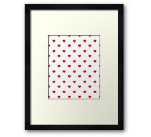 Heart white and red minimal valentines day gift for her cell phone case hearts Framed Print