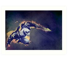 Watercolor Zed League of Legends Art Print
