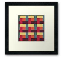 Fallen Leaf Block Pattern Framed Print