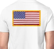 American, ARMY, Flag, Embroidered, Stars and Stripes, USA, United States, America, Military Badge Unisex T-Shirt