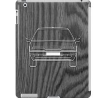 Citroen XM Outline Drawing on Black Oak iPad Case/Skin