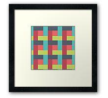 Pink Sky Block Pattern Framed Print
