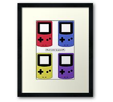Gameboy Color - What Color is Yours?  (no background) Framed Print