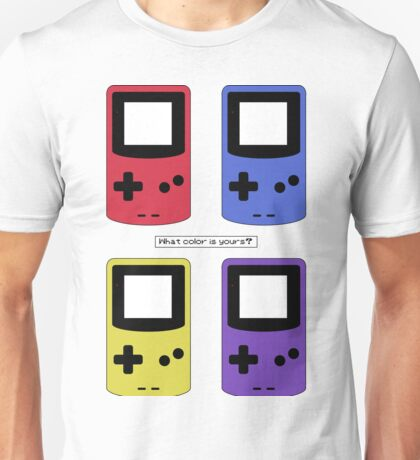 Gameboy Color - What Color is Yours?  (no background) Unisex T-Shirt