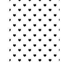 Valentines day black and white heart cute minimal modern hipster bklyn nashville austin socal Photographic Print