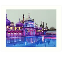 Pavilion Pink and Ice Rink Art Print