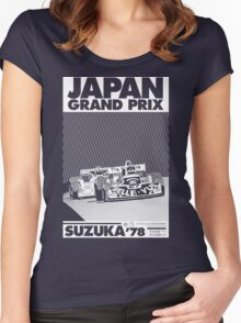 japan grand prix  Women's Fitted Scoop T-Shirt