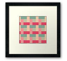 Sugar Dust Block Pattern Framed Print