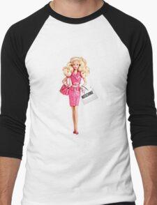 barbie pink Men's Baseball ¾ T-Shirt