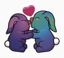 Beautiful Bunny Kisses One Piece - Short Sleeve