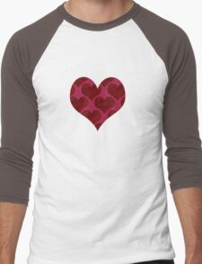 Hearts Men's Baseball ¾ T-Shirt