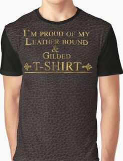 Exclusive Luxury Leather bound and Gilded Cotton Graphic T-Shirt