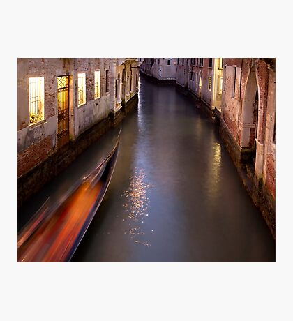Midnight Passage - Venice, Italy Photographic Print
