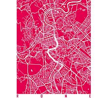 Rome map raspberry Photographic Print