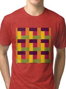 Fruit Tree Block Pattern Tri-blend T-Shirt