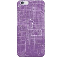 Beijing map lilac iPhone Case/Skin