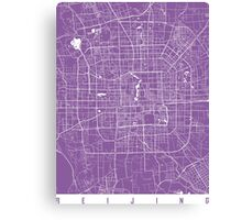 Beijing map lilac Canvas Print