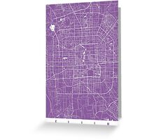 Beijing map lilac Greeting Card