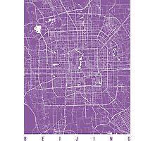 Beijing map lilac Photographic Print