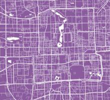 Beijing map lilac Sticker