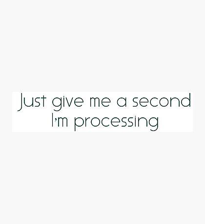 I'm processing Photographic Print