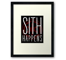 Sith Happens | Logo version Framed Print