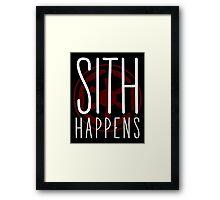 Sith Happens | Logo version Framed Print