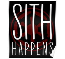 Sith Happens | Logo version Poster