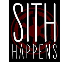 Sith Happens | Logo version Photographic Print
