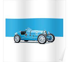 Bugatti Classic Vintage Poster