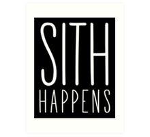 Sith Happens | Blank version Art Print