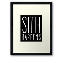 Sith Happens | Blank version Framed Print