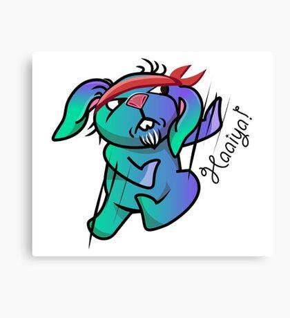 Haaaaiya! Karate Bunny Canvas Print