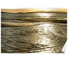 Golden Sea on Anglesey Poster