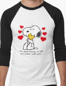 snoopy love Men's Baseball ¾ T-Shirt
