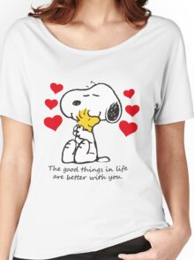 snoopy love Women's Relaxed Fit T-Shirt