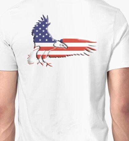 AMERICAN, Eagle, America, Bald Eagle, Bird of Prey, War, American Flag, Stars & Stripes, America, USA,  Unisex T-Shirt