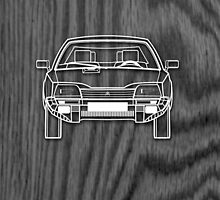 Citroen CX Outline Drawing on Black Oak by RJWautographics