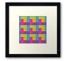 Bright Hue Block Pattern Framed Print